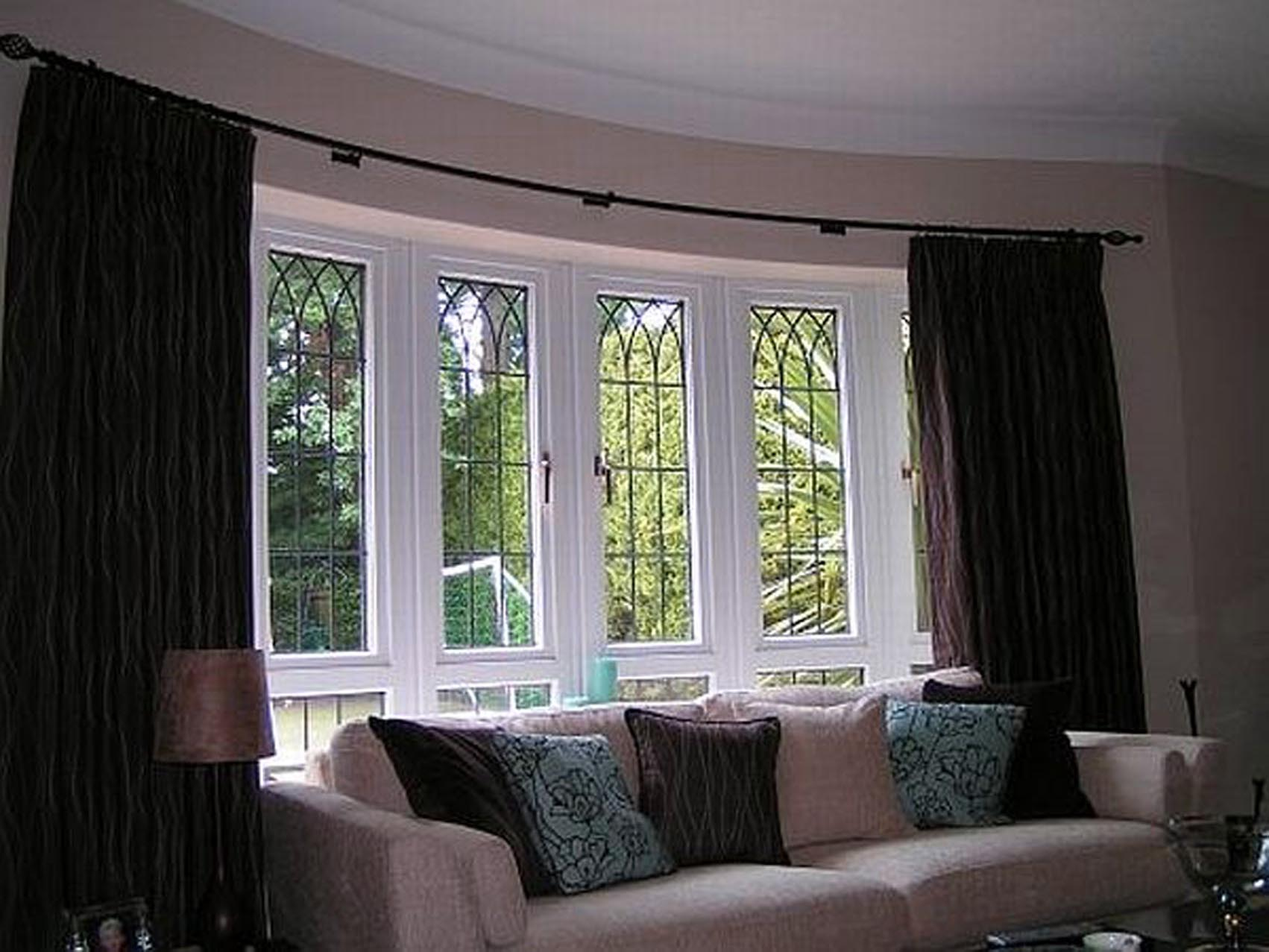 5 window bay window treatments window treatments design for Ideas for bay window treatments