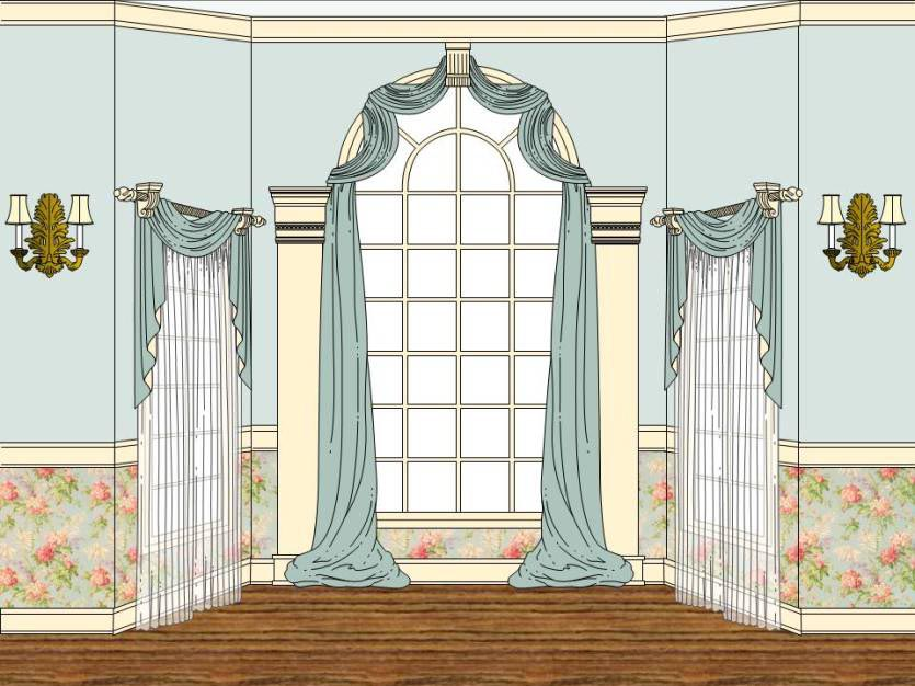 Arched window treatments diy window treatments design ideas for Arched kitchen window treatment ideas