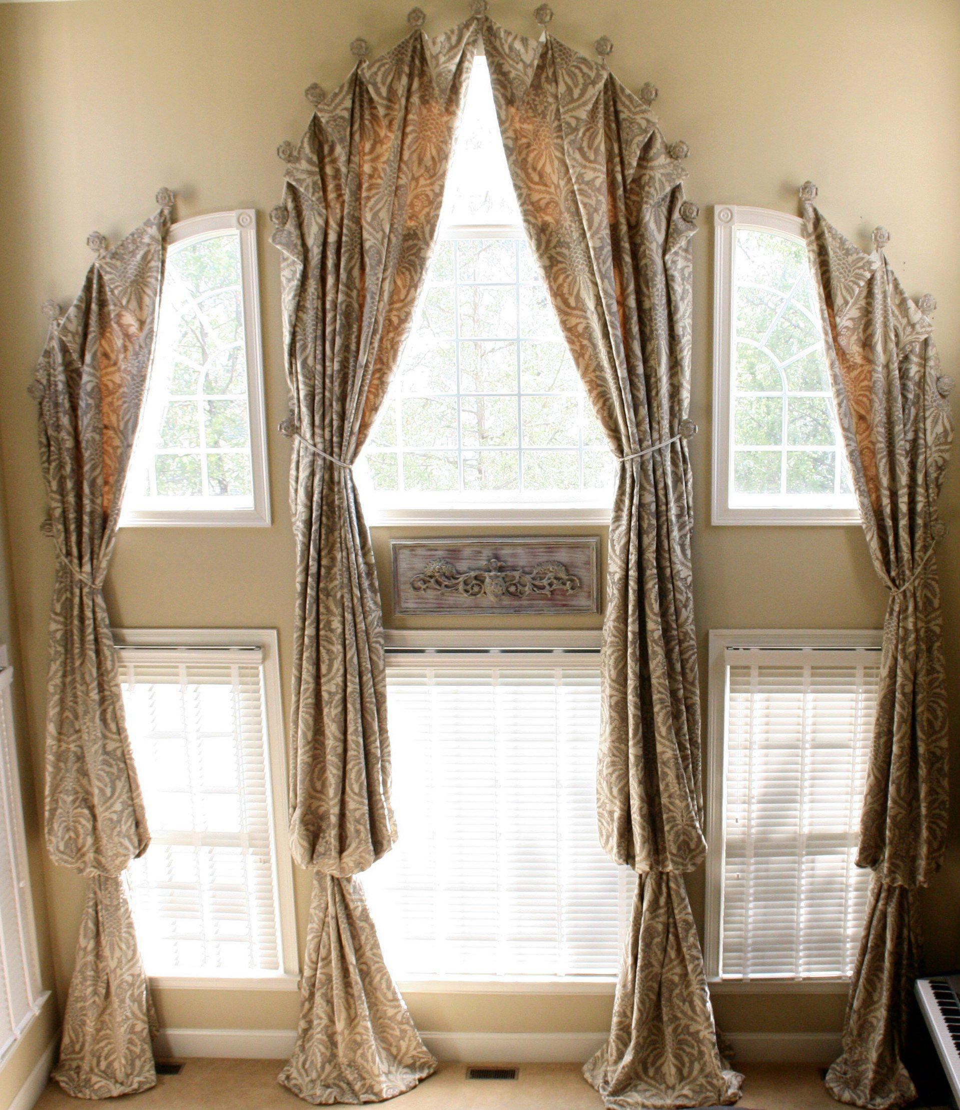Window Treatment Design Ideas 1000 ideas about bay window treatments on pinterest window treatments bay windows and bay window curtains Arched Window Treatments Patterns