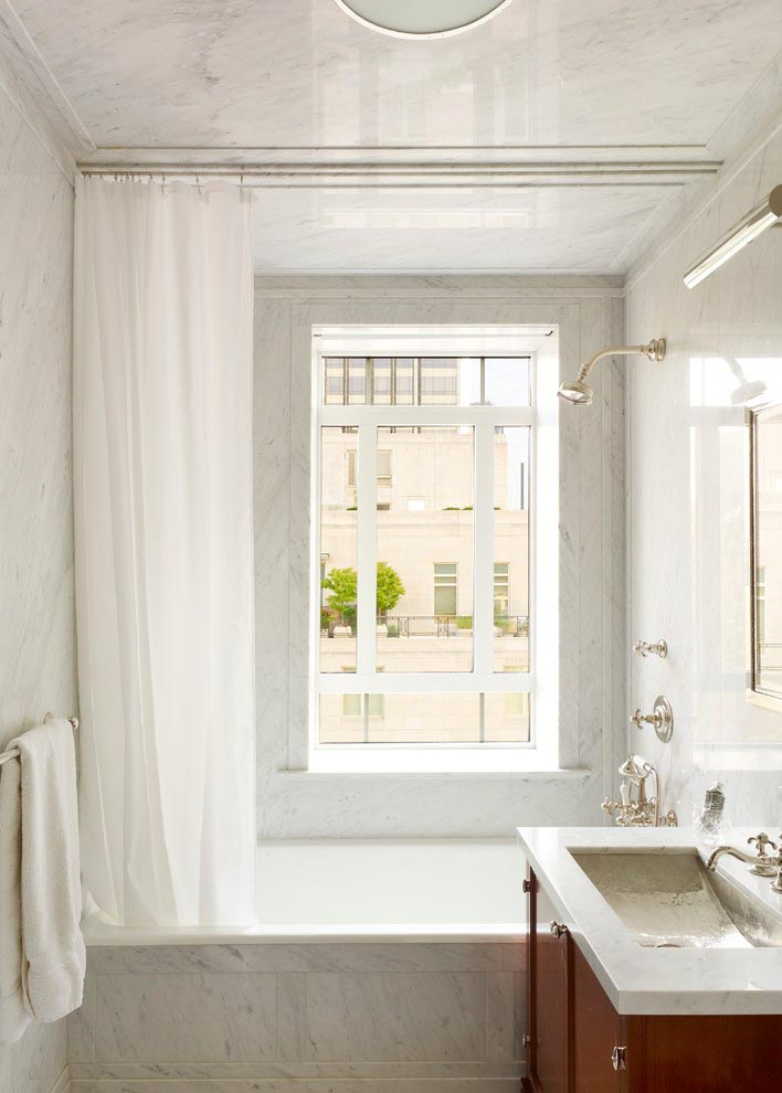 Bathroom Shower Window Curtain