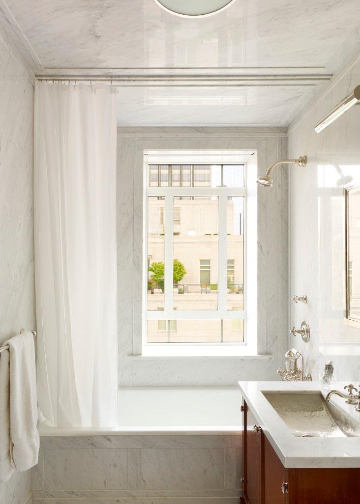 Bathroom Shower Window Curtain Window Treatments Design Ideas