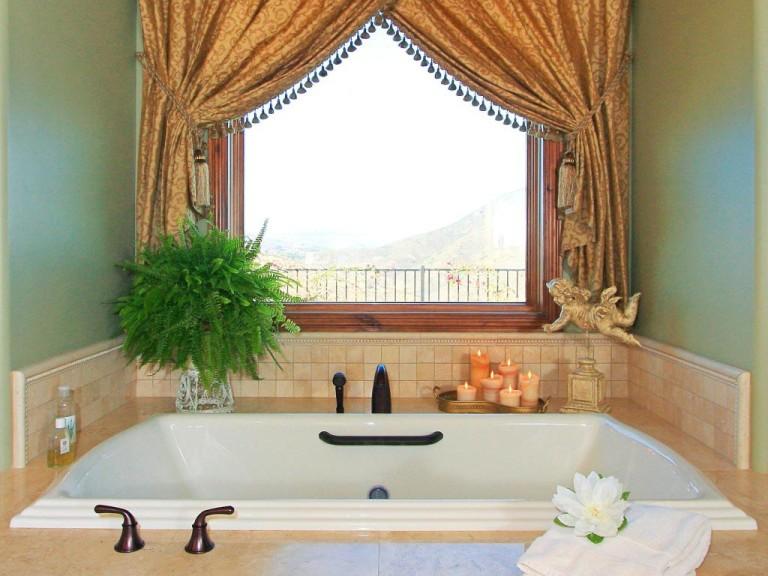 Bathroom Window Curtain Rods