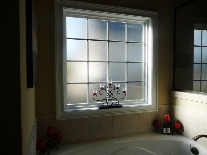 Various Applications Of Bathroom Window Film Window Treatments Design Ideas