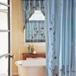 Bathroom Window Shower Curtain