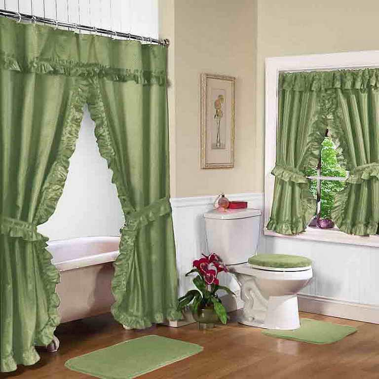Bathroom window shower curtain sets window treatments design ideas Bathroom decor ideas with shower curtain