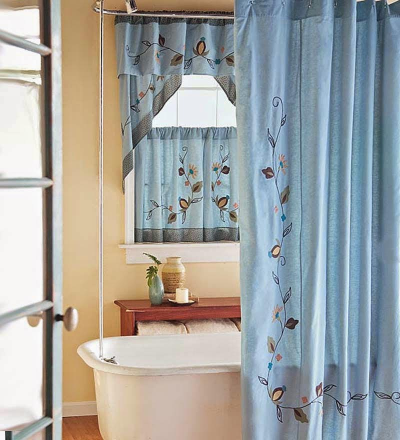 Bathroom Window Shower Curtain Window Treatments Design Ideas