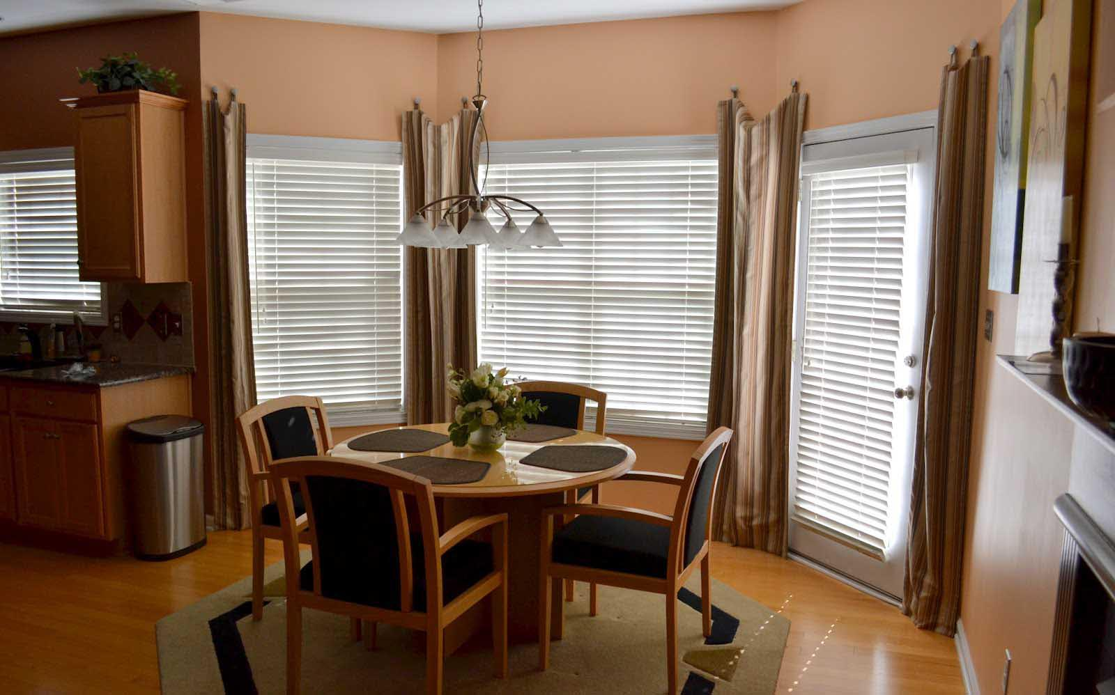 Bay Window Treatments Dining Room