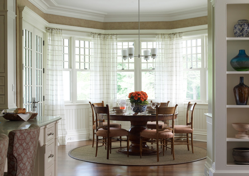 Bow window treatments dining room window treatments for 2016 window design