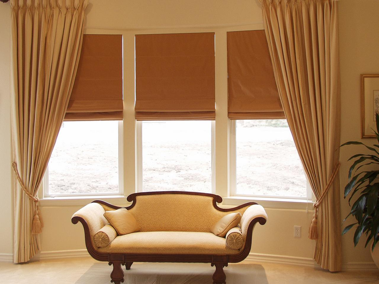 Bow Window Treatments Shades