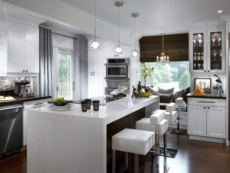 Contemporary Kitchen Window Treatments