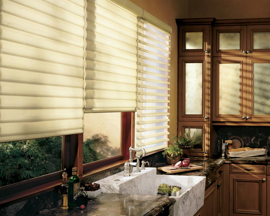 Contemporary Kitchen Window Treatments Ideas Window