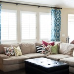 Contemporary Window Treatments for Living Room