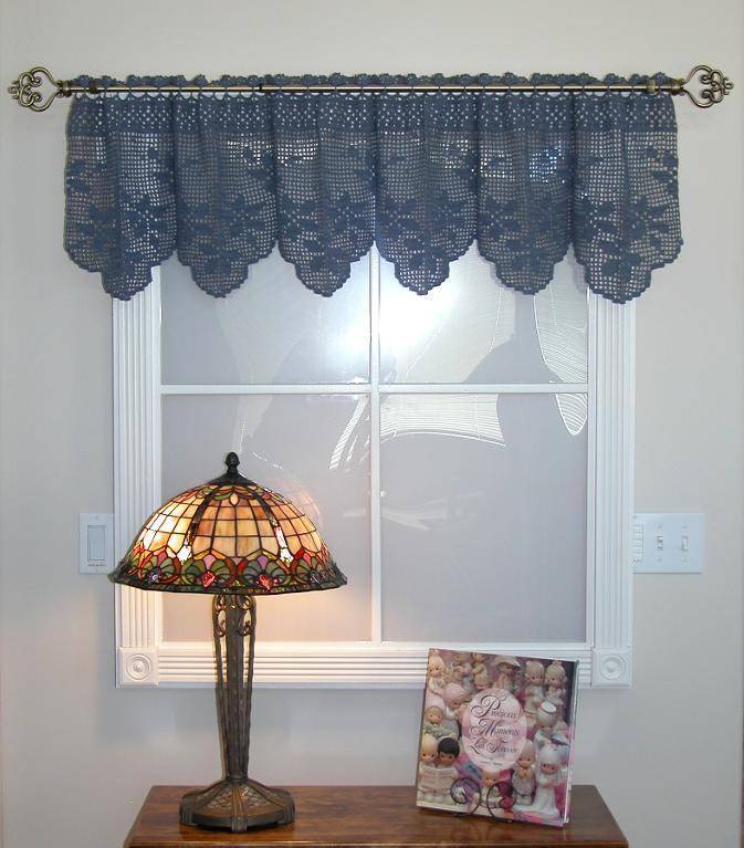 Crochet Curtain Patterns Valances Window Treatments ...