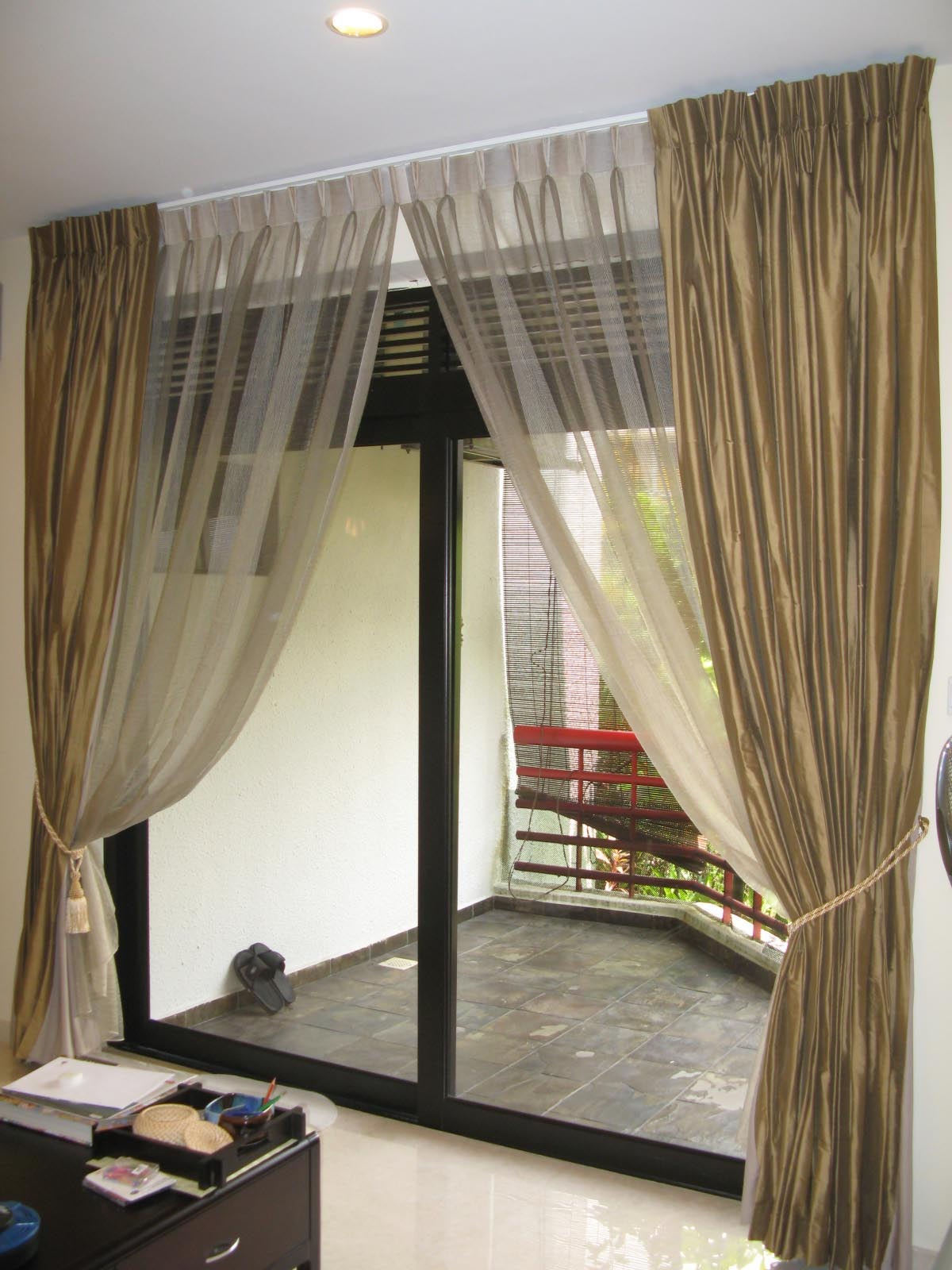 Curtain Rod Patio Door