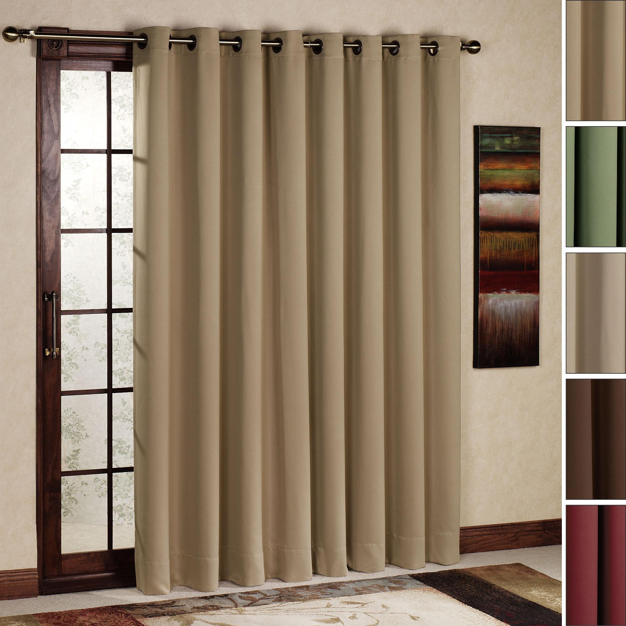 Curtain Rod Size For Sliding Glass Door | Window Treatments Design ...