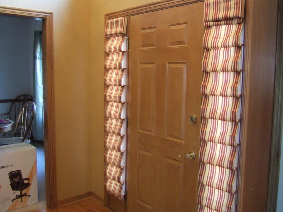 Door Sidelight Window Treatments