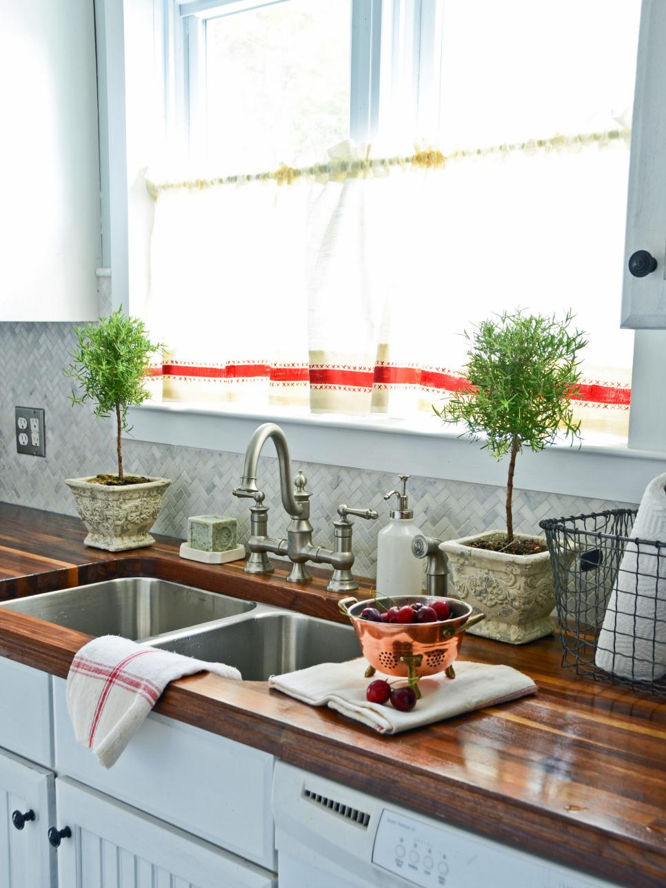 Superb Easy Kitchen Window Treatments