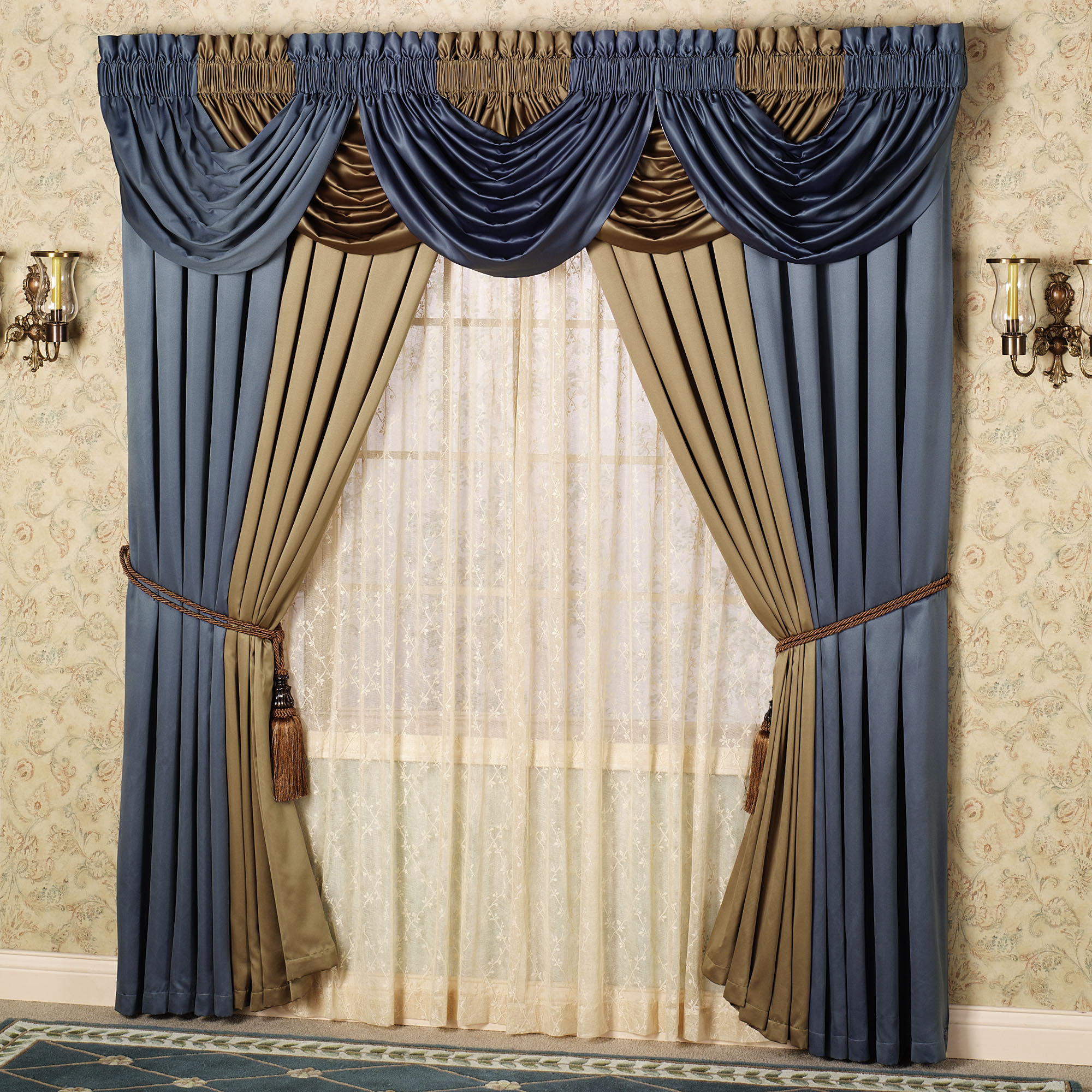 trim zig pocket valances designs gray window large valance carousel and with navy rod zag elephants white accent