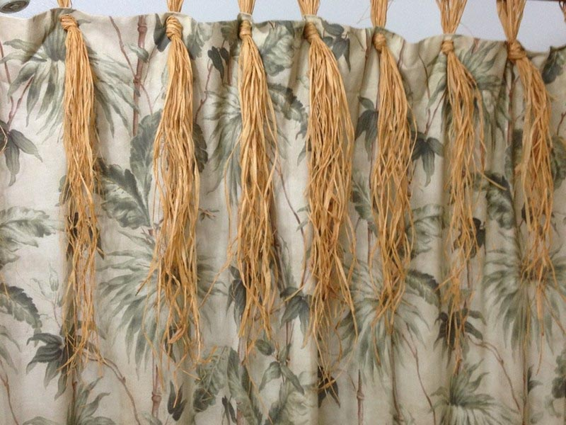 Faux Bamboo Curtain Rods