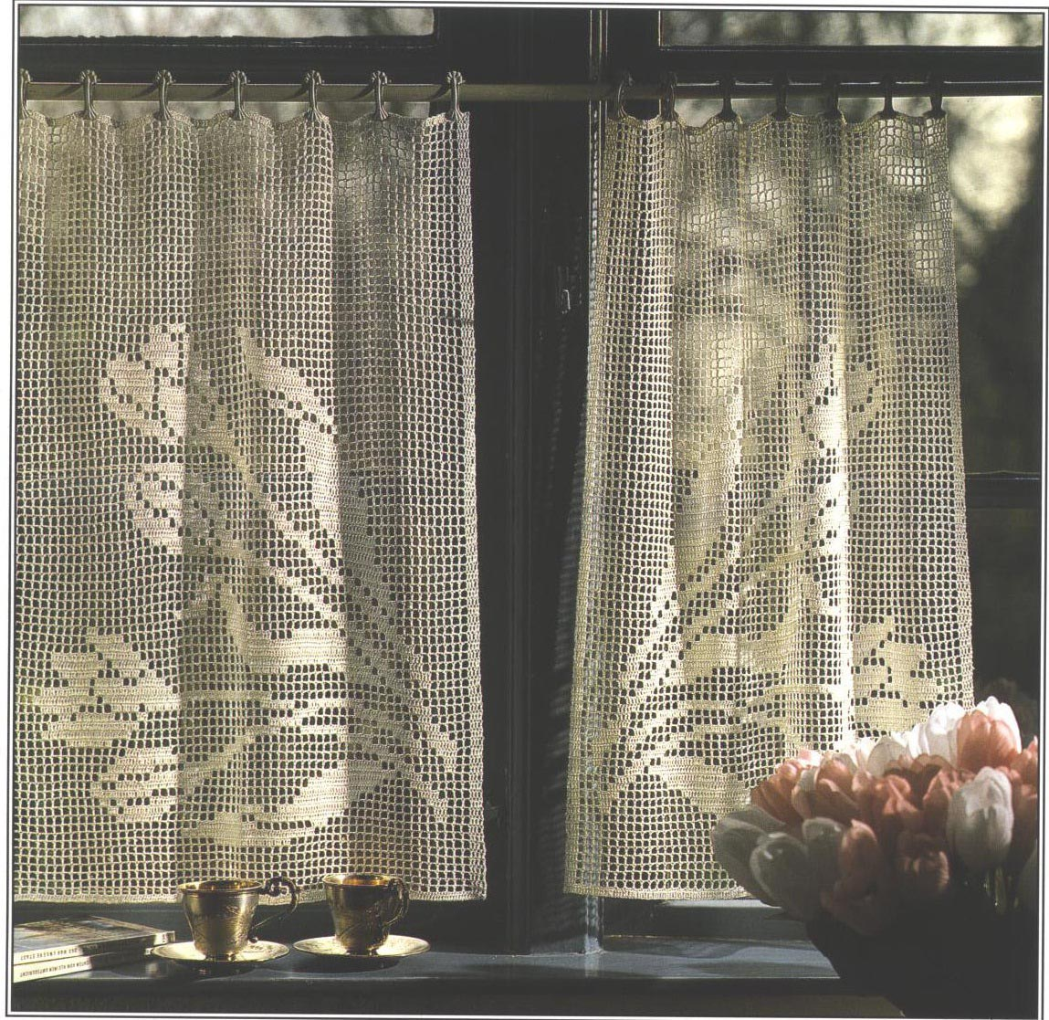 Free Crochet Window Curtain Patterns