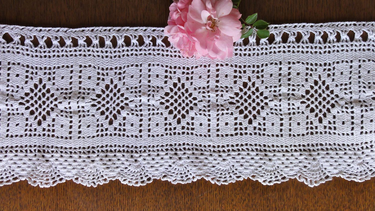 Free Filet Crochet Curtain Patterns