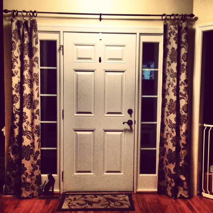 Front Door Sidelight Window Treatments