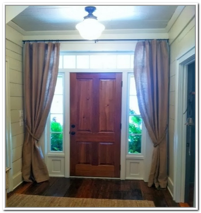 Front door window treatments window treatments design ideas for Front door window curtains