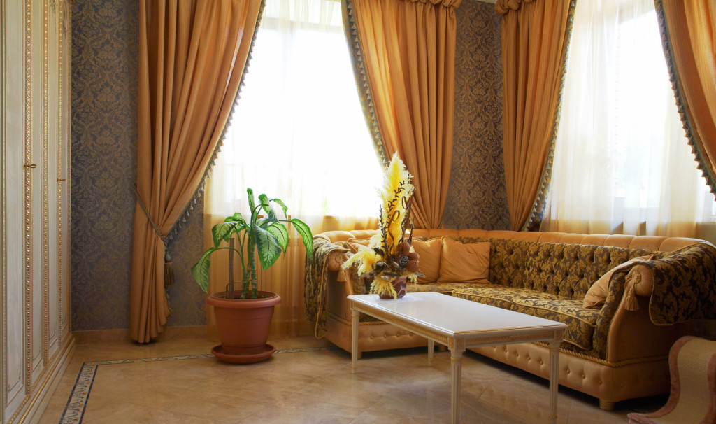 Gold Curtains for Living Room