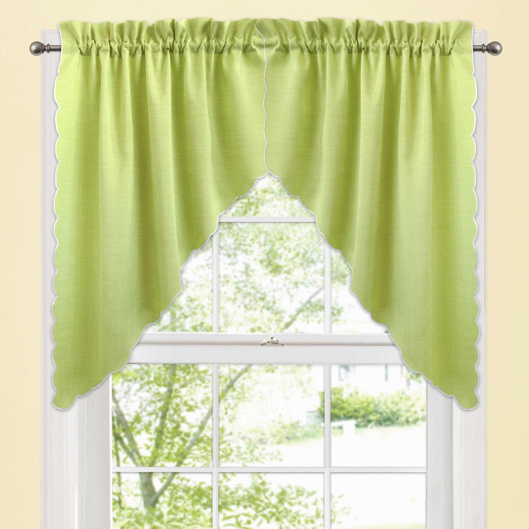 Green Valances Window Treatments