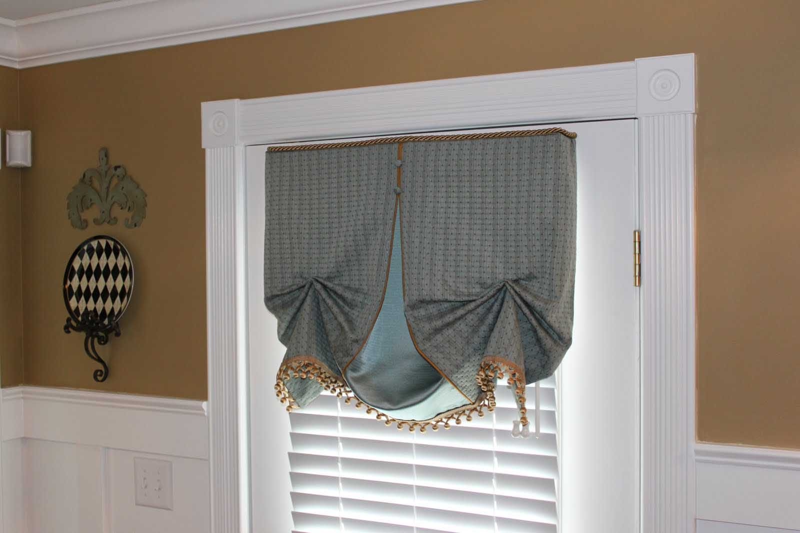 Kitchen Door Window Treatments