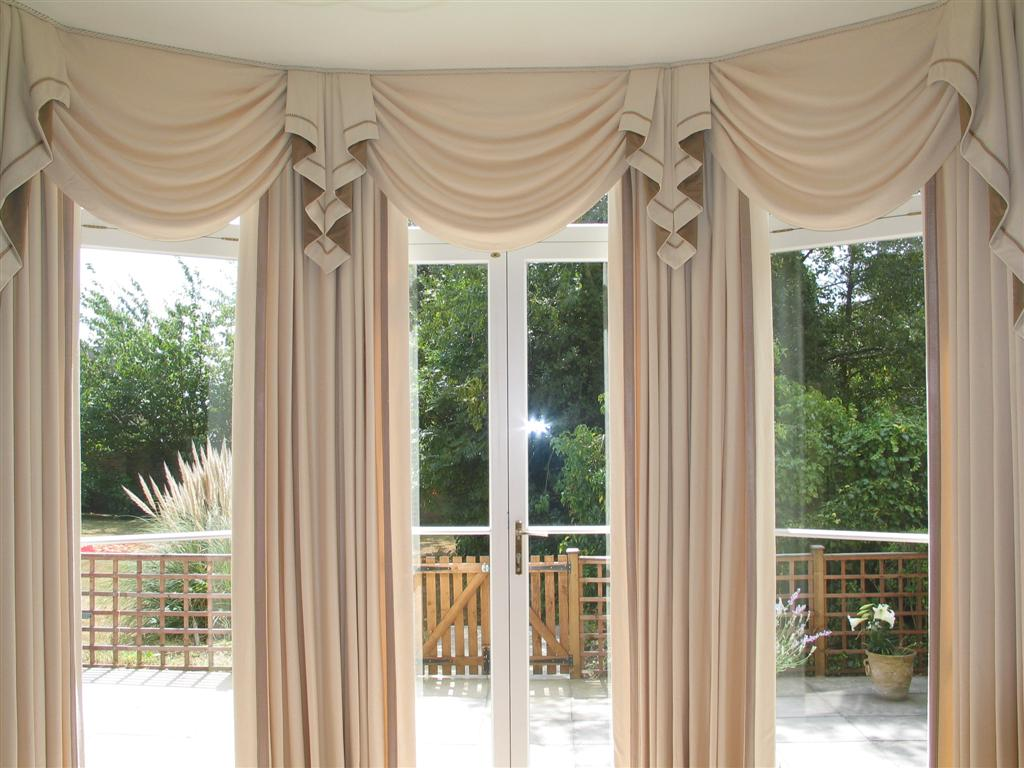 Valances For Bay Windows : Large bay window treatments design ideas