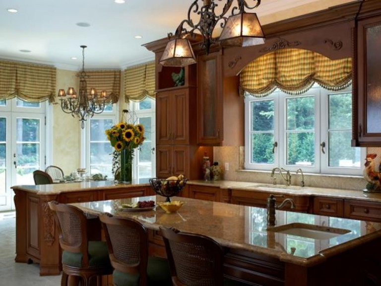Large Kitchen Window Treatments