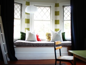 Modern Bay Window Treatments