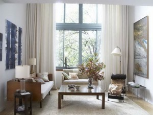 Modern Living Room Window Treatments