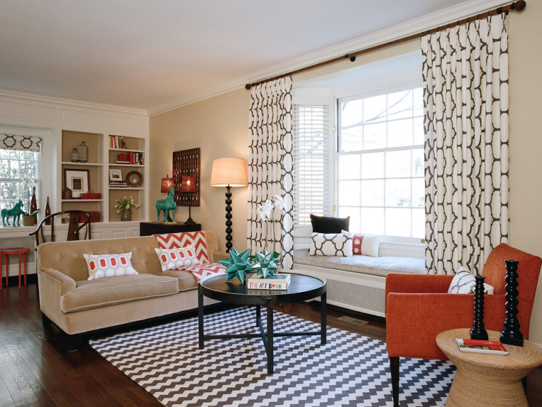 Modern Window Treatments Living Room