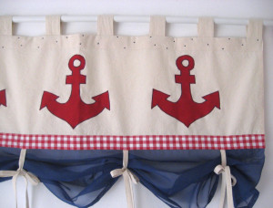 Navy Valances Window Treatments