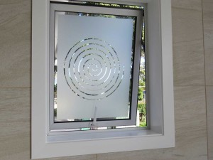 Privacy Film for Bathroom Window