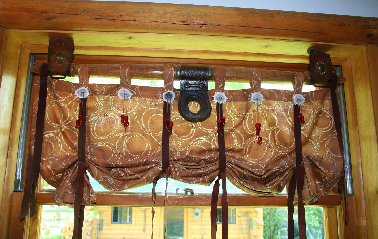 Rustic Cabin Window Treatments