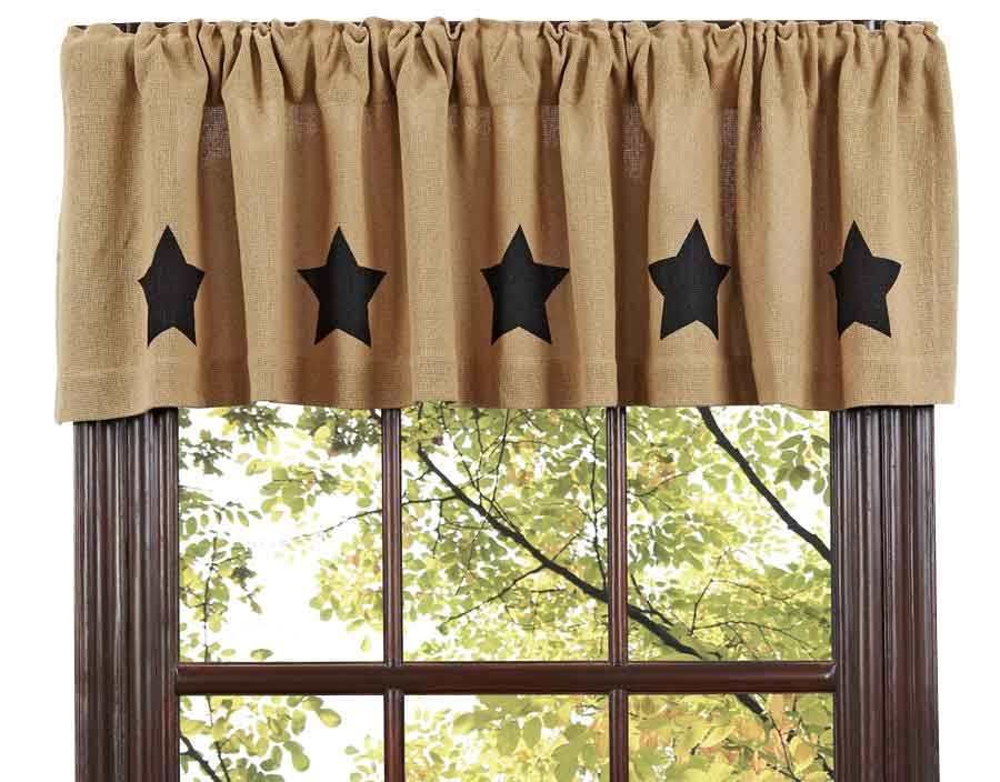 Rustic Window Treatments Valance