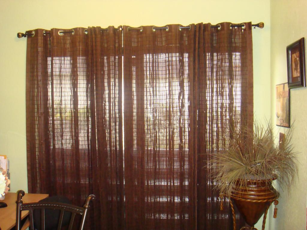 Sliding glass door curtain rod window treatments design for Sliding glass doors curtains