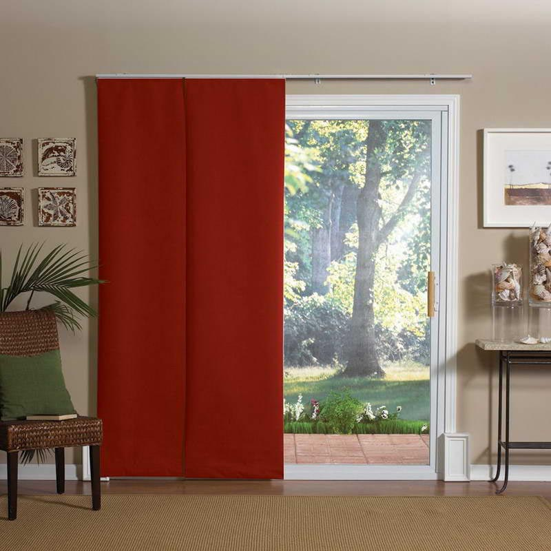 Sliding patio door curtain panels window treatments - Curtain options for sliding glass doors ...