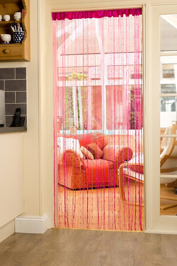 String Door Curtain with Beads