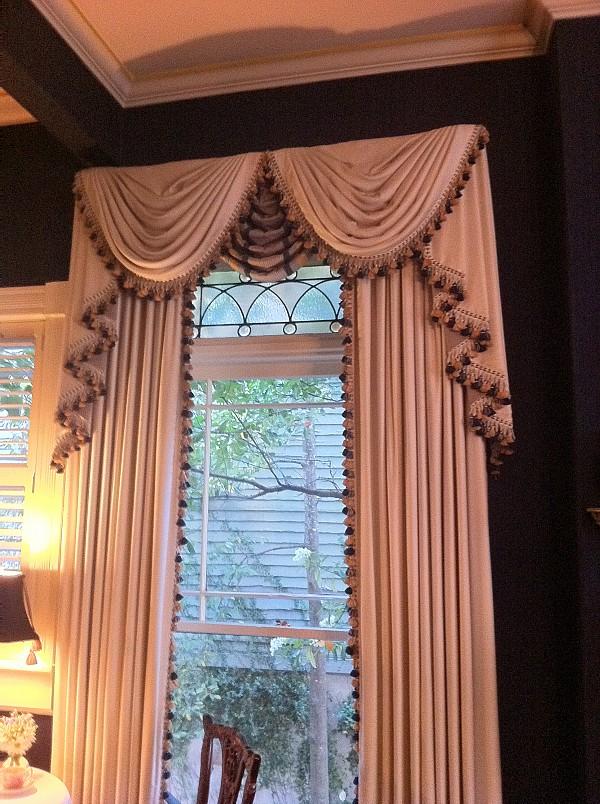 Swag valances window treatments design