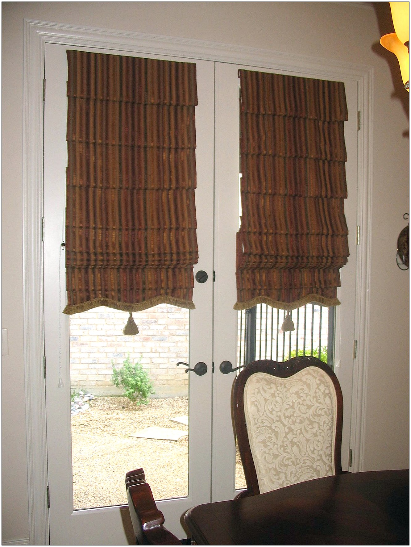 Unique window treatments for french doors window for Unique window designs