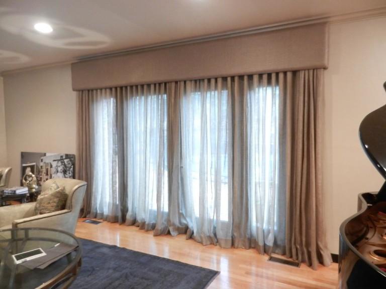 Upholstered Cornice Window Treatments