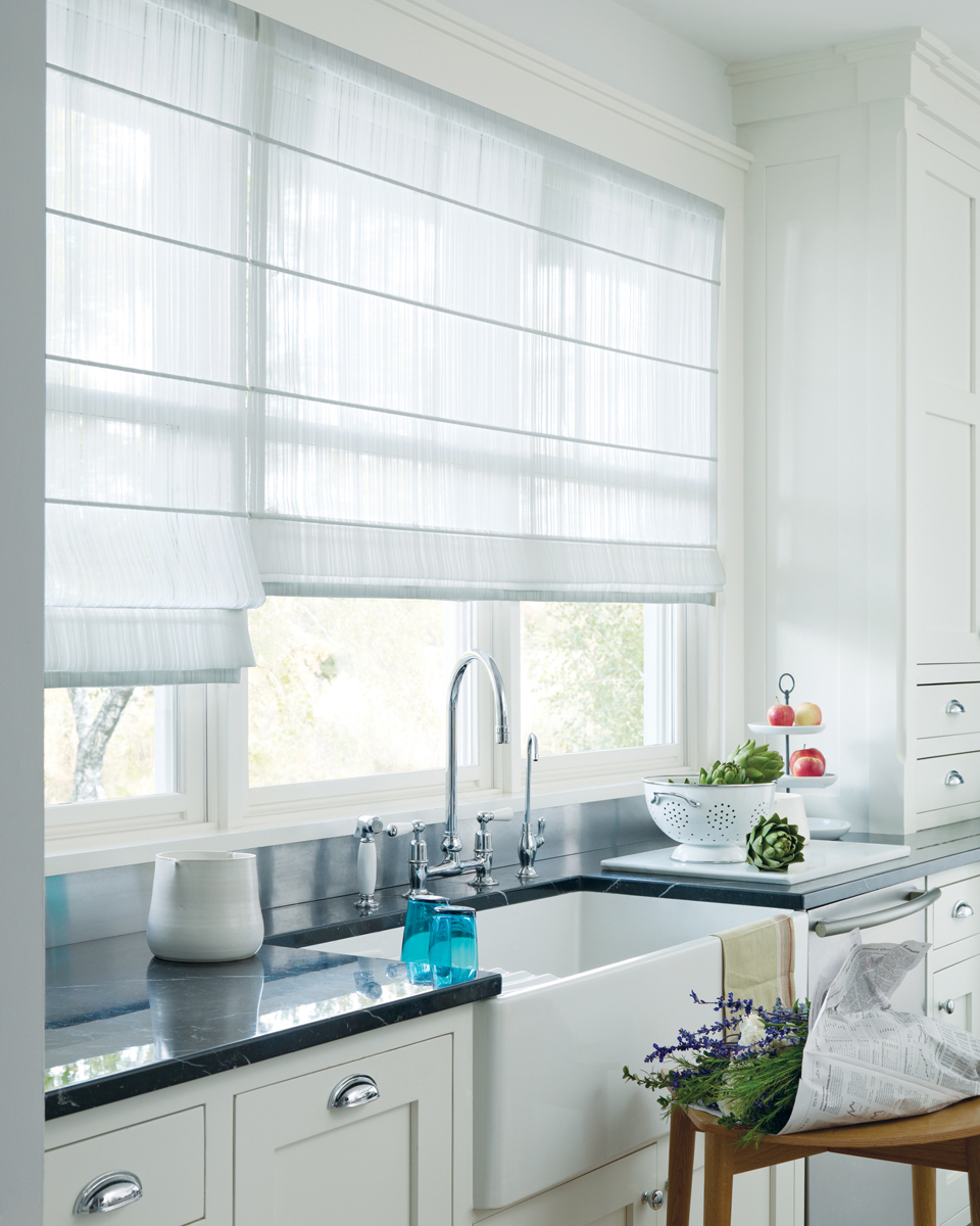White Kitchen Window Treatments