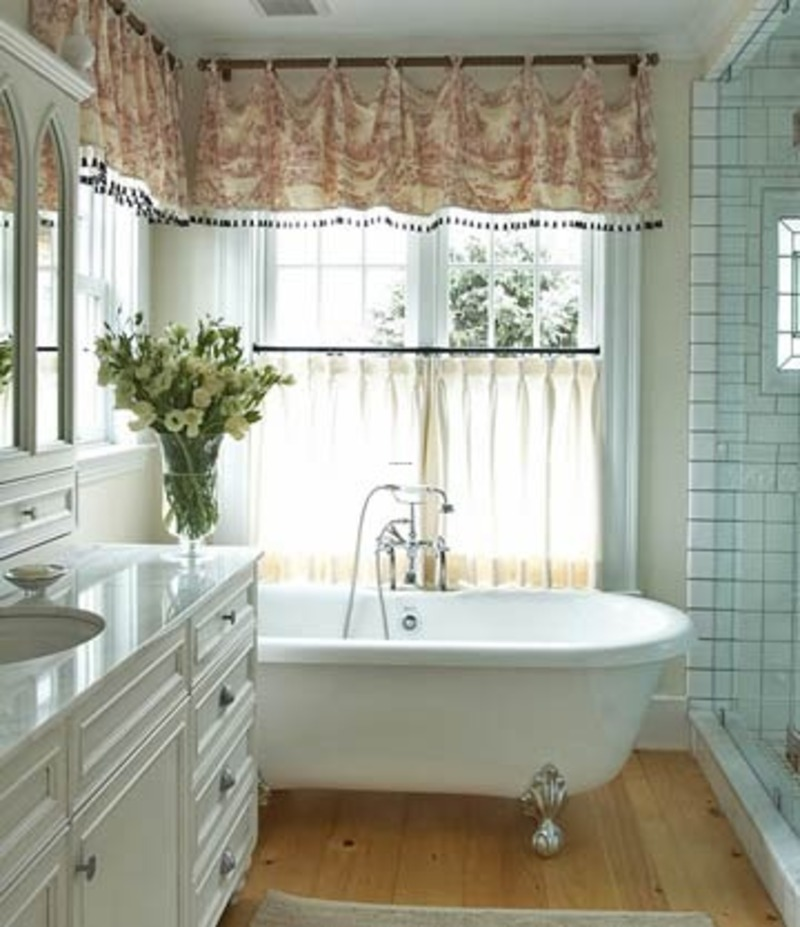 Window Treatments for Bathroom Window in Shower