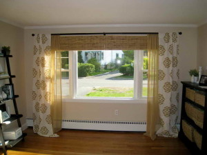 Window Treatments for Bow Window