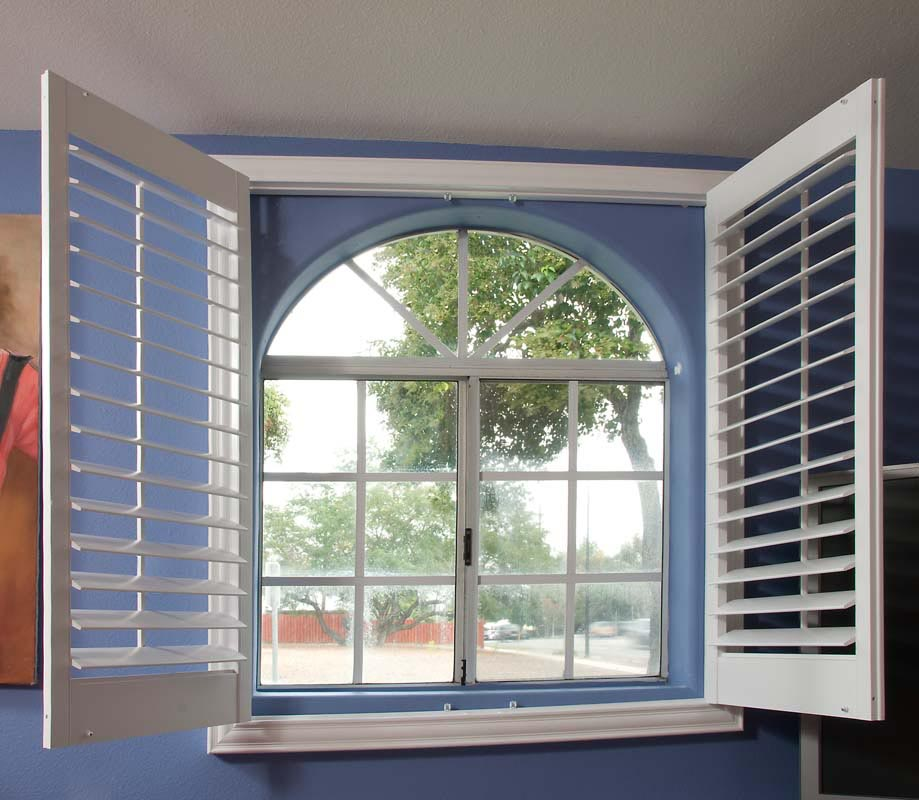 Arch window blinds that open and close window treatments for Window design arch
