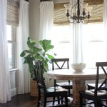 Bamboo Roman Shades with Curtains